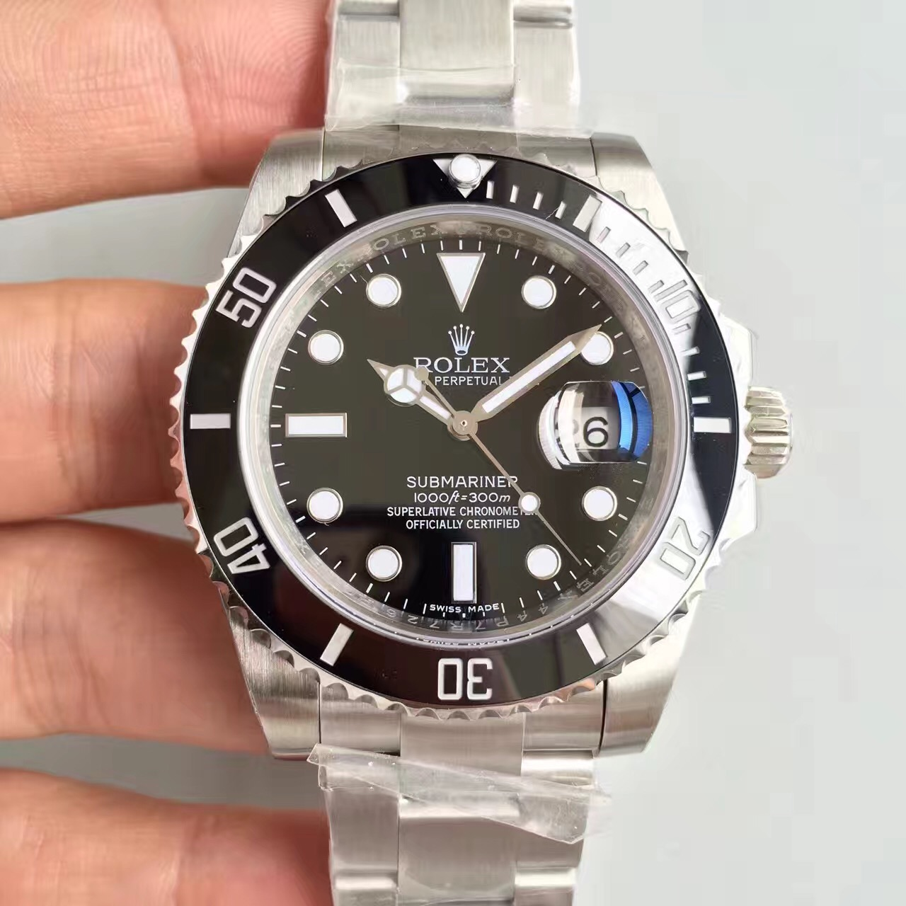 V7 Rolex black water ghost nigga v7 version SUB submariner series 116610LN with calendar v7 has been discontinued